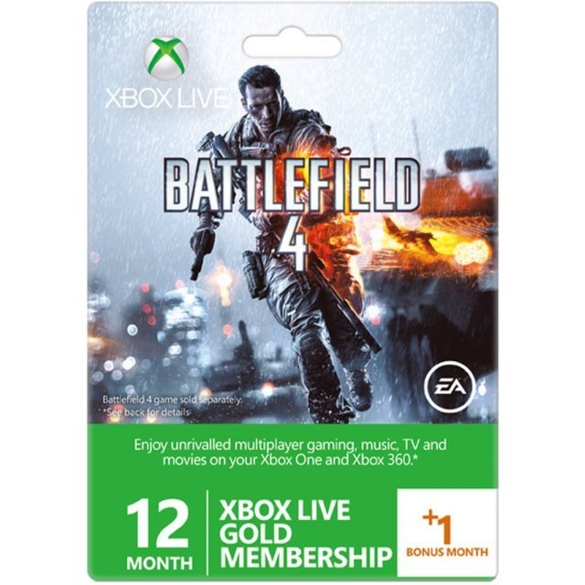 Xbox Live 12-Month +1 Gold Membership Card (Battlefield 4