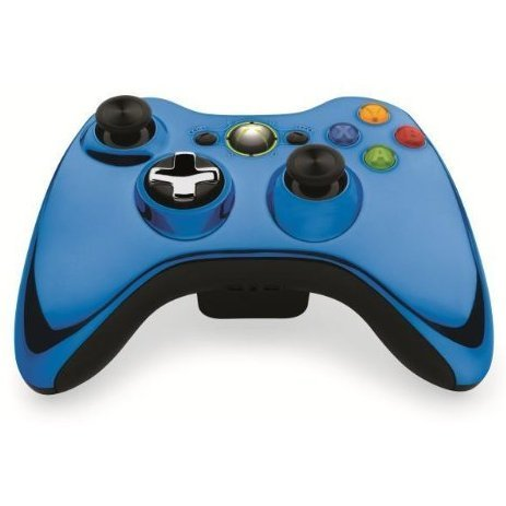 Xbox 360 Wireless Controller (Chrome Blue)