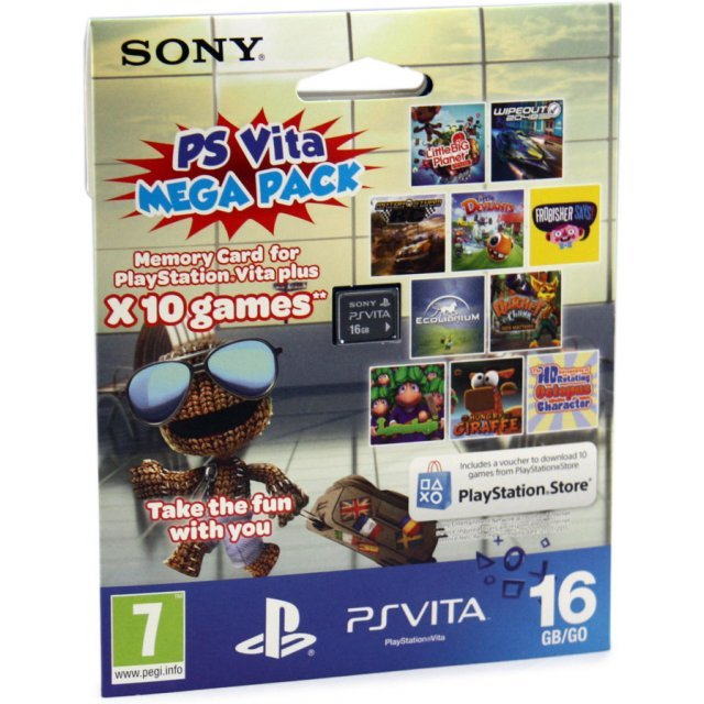 PS Vita Mega Pack (Includes 10 Games and 16GB Memory Card)