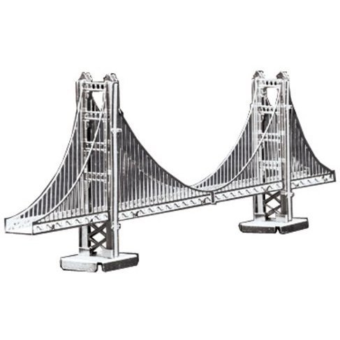 Metallic Nano Puzzle: Golden Gate Bridge