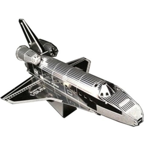 Metallic Nano Puzzle: Space Shuttle Atlantis