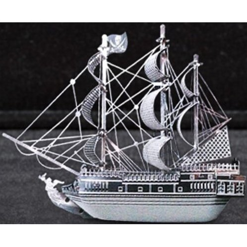 Metallic Nano Puzzle: The Black Pearl