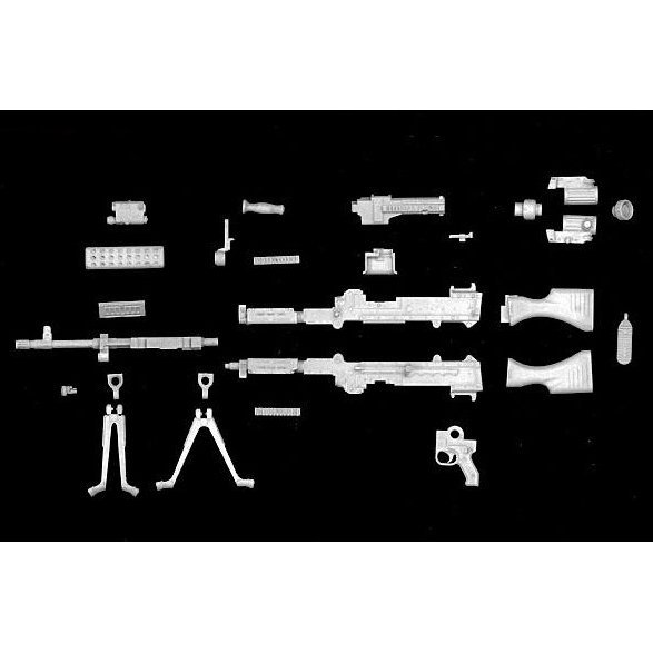 1:12 Scale Little Armory LA002: M240B Type General Purpose Machine Gun (Unassembled Kit)