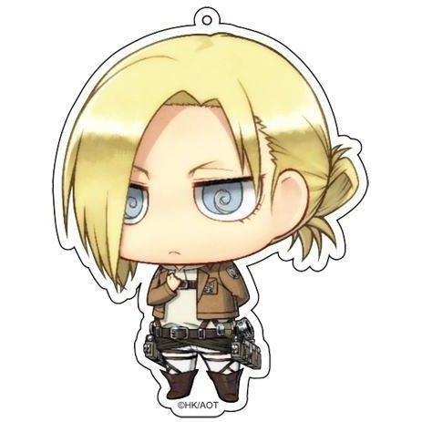 Attack on Titan Deka Key Ring Annie Salute Ver.