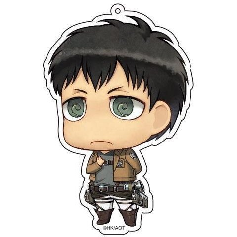 Attack on Titan Deka Key Ring Bertolt Salute Ver.