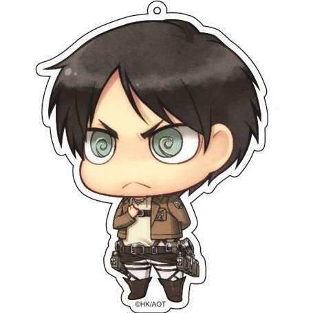 Attack on Titan Deka Key Ring Eren Salute Ver.