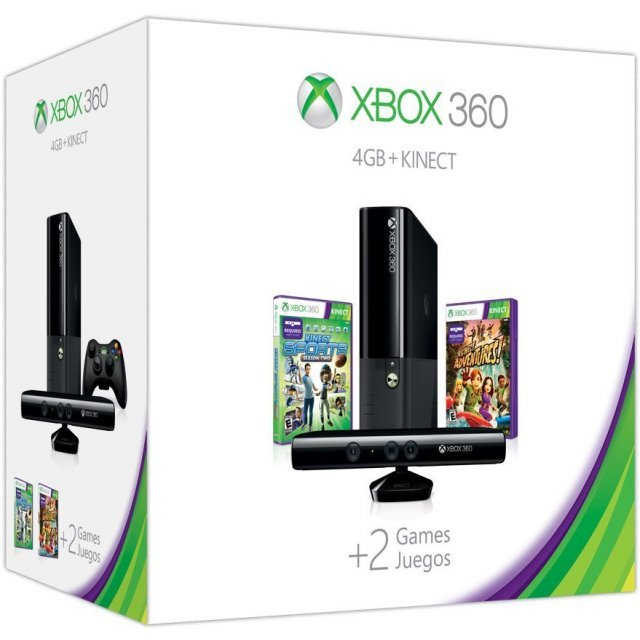 Xbox 360 4GB Kinect Holiday Bundle (Kinect Sports: Season Two & Kinect Adventures Games)