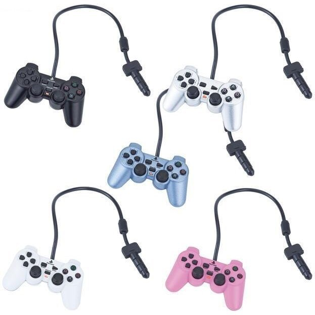 Play Station Controller Type Earphone Jack Mascot (Set of 18 pieces)