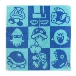 Club Nintendo Original Towel Handkerchief (Blue)