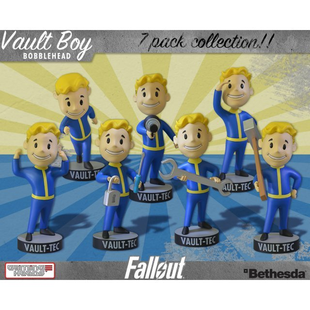 Fallout 3: Vault Boy Bobbleheads Series One (Set of 7 Pieces)