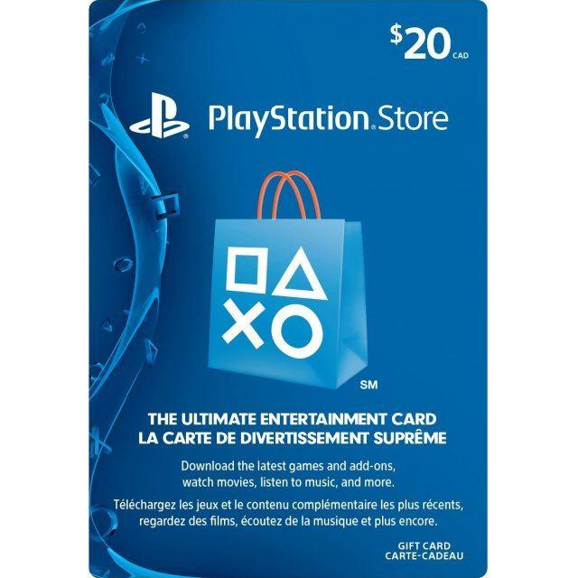 PSN Card 20 CAD | Playstation Network Canada digital
