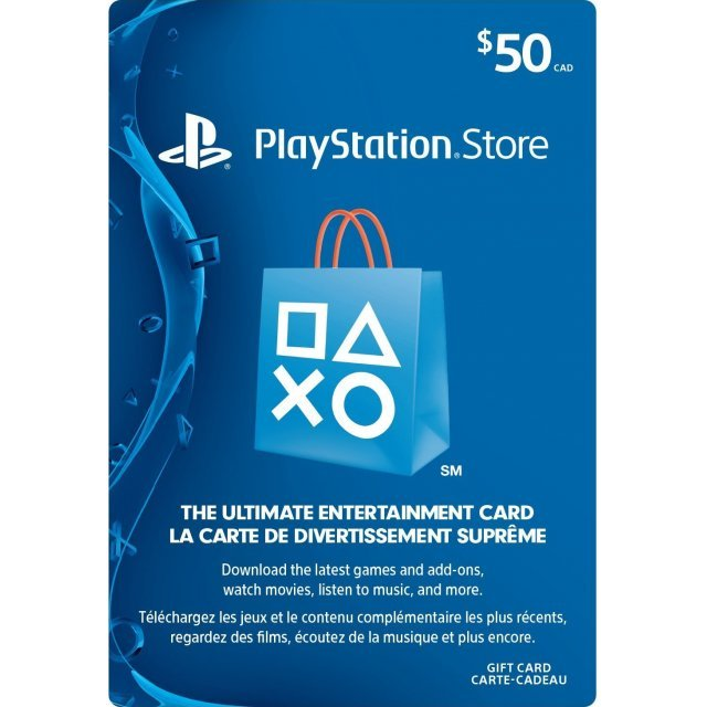 PSN Card 50 CAD | Playstation Network Canada