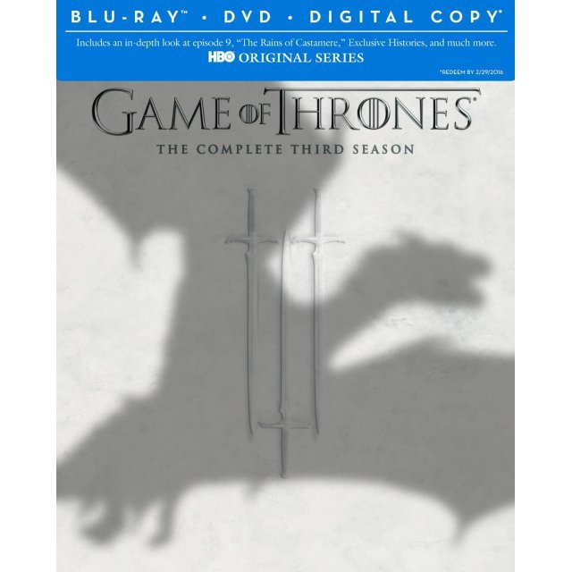 Game of Thrones: The Complete Third Season [Blu-ray+DVD+Digital Copy+UltraViolet]
