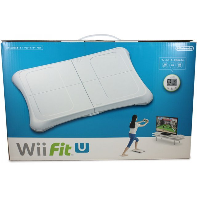 wii fit u wii balance board fit meter set white green. Black Bedroom Furniture Sets. Home Design Ideas