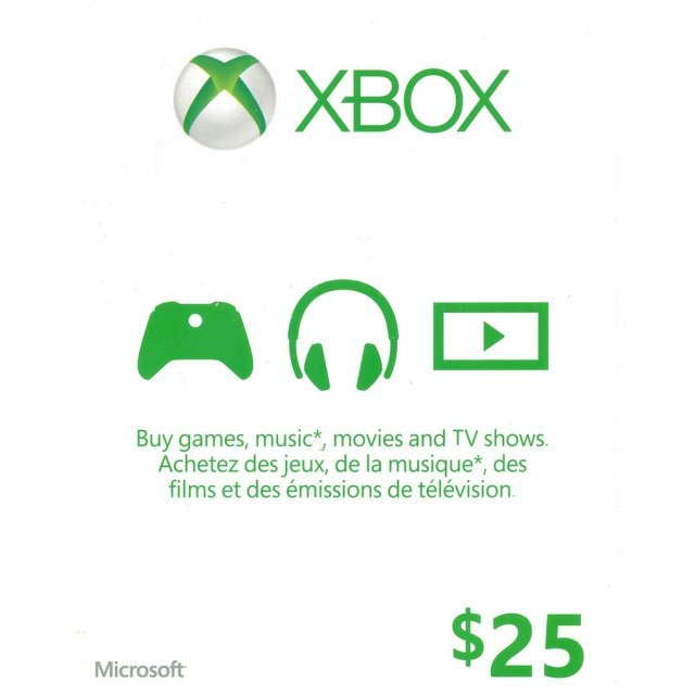 Xbox Live Value Card (CAD 25)