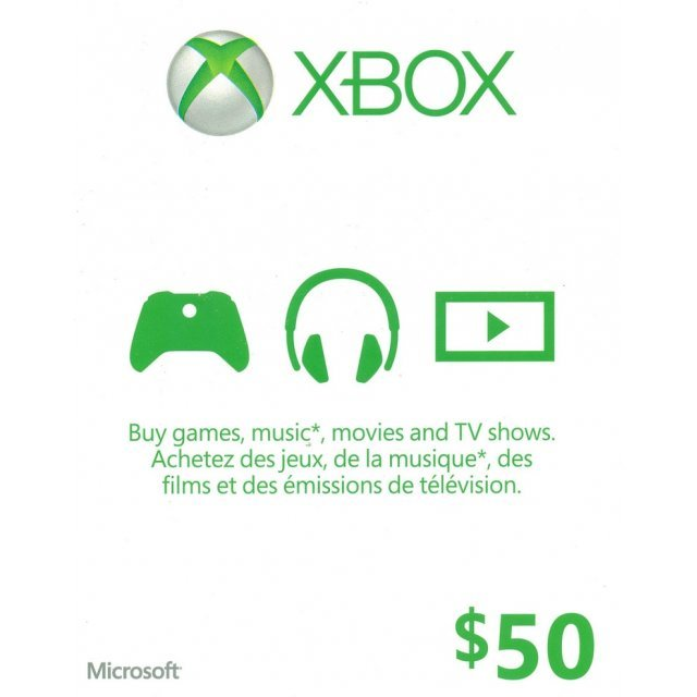 Xbox Live Value Card (CAD 50)