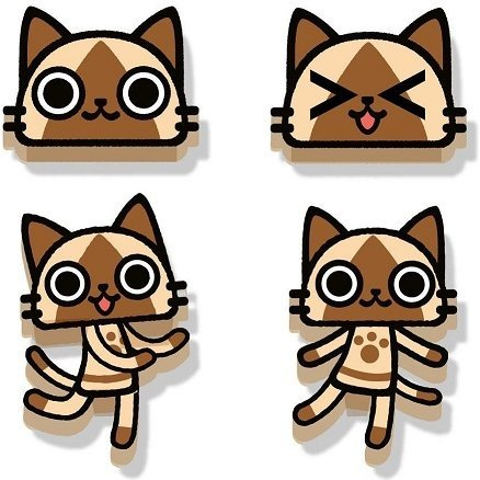 Monster Hunter Airou Face Magnet: Airou