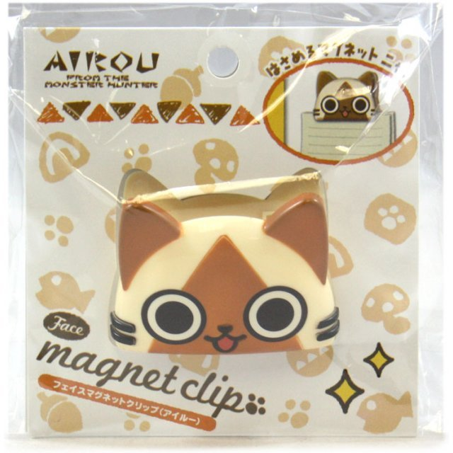 Monster Hunter Airou Face Magnet Clip: Airou