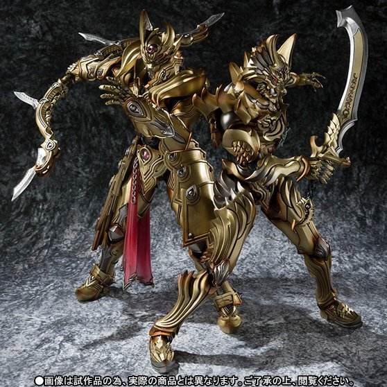 Golden Knight Garo: Zen Flaming Blade Knight and Gai the Sky Bow Knight Gold Ver.