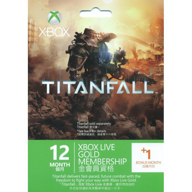 Xbox 360 Live 12-Month +1 Gold Membership Card (Titanfall Edition)