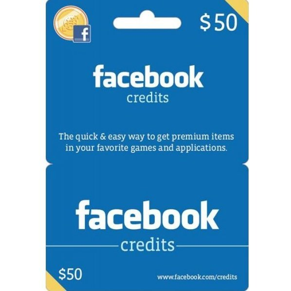 Facebook Card (USD 50 / for US accounts only)