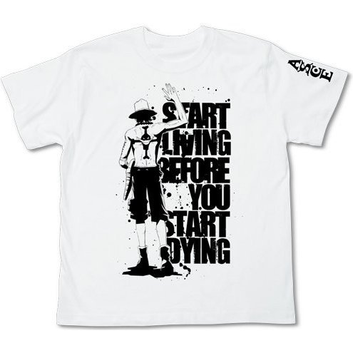 One Piece T-Shirt White Ace Waygoing (L Size) (Re-run)