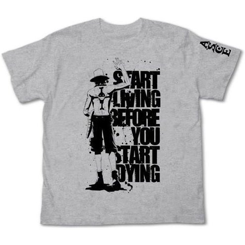 One Piece T-Shirt Mix Gray XS: Ace Waygoing (Re-run)