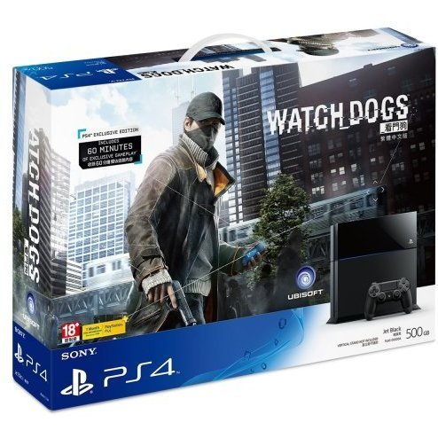 PlayStation 4 System - Watch Dogs Bundle Set (Jet Black)
