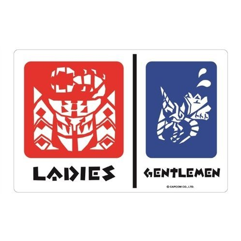 Monster Hunter Magnet Sticker Collection: Men and Women Pictogram