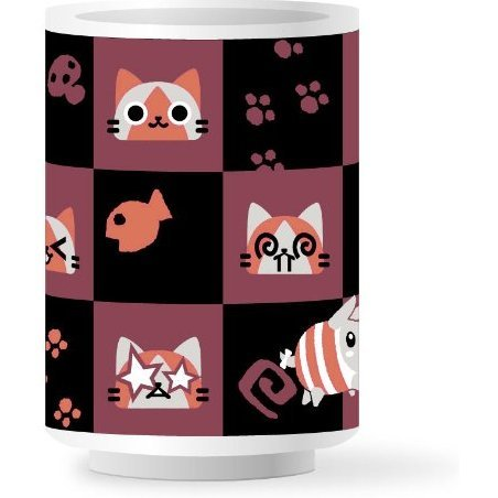 Airou Japanese Pattern Cup Madder Red