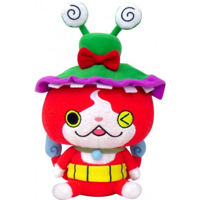 Youkai Watch Kuttari Plush: Jibanyan × Wasuren Hat