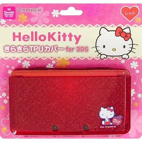 Hello Kitty Kirakira TPU Cover for 3DS (Red)