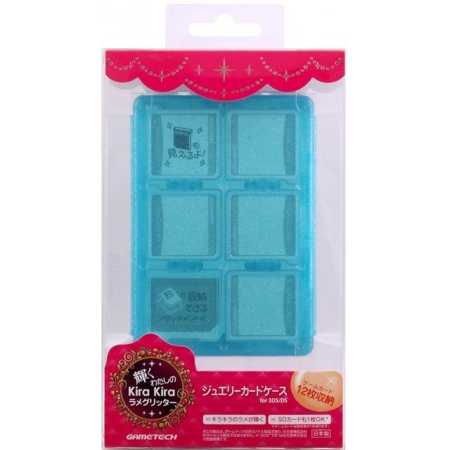Jewel Card Case (Blue Glitter)