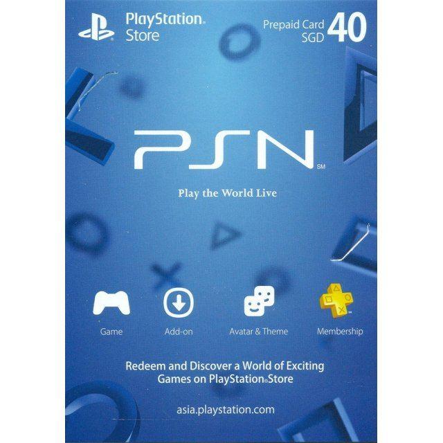 PSN Card 40 SGD   Playstation Network Singapore digital