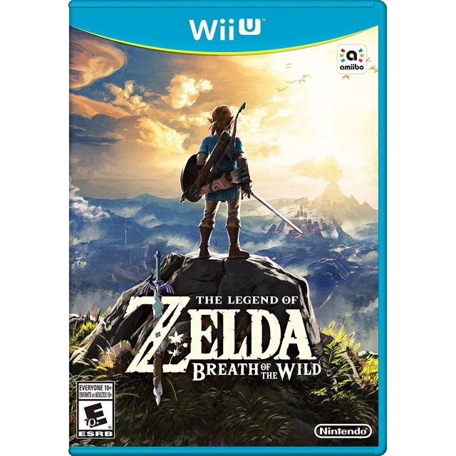 Image result for zelda breath of the wild wii u box