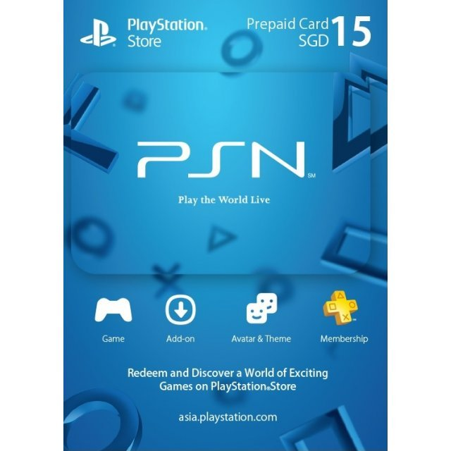 PSN Card 15 SGD | Playstation Network Singapore