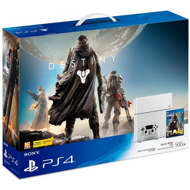 PlayStation 4 System - Destiny Bundle Set (Glacier White)