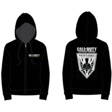 Activision Call of Duty: Advanced Warfare Soldier Zipper Hoodie - Men (Black) (S)