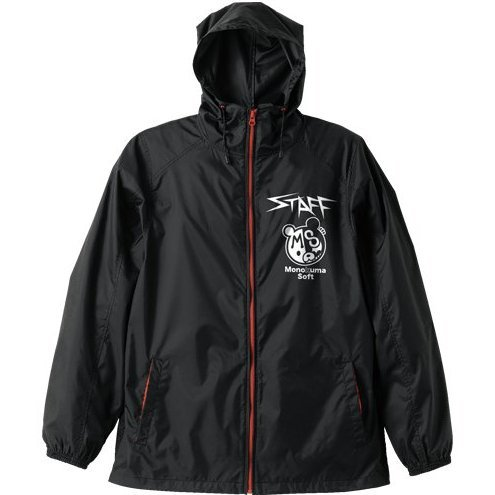 Danganronpa Soft Hooded Windbreaker Black x Red S: Monokuma
