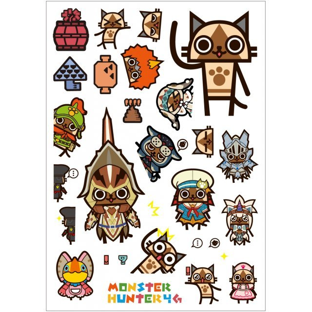 Monster Hunter 4G Wall Decoration Seal: Otomo Airou