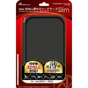 Semi Hard Case Slim for New 3DS LL (Black)