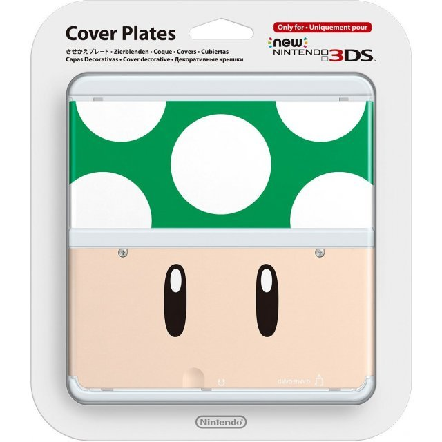 New Nintendo 3DS Cover Plates No.020 (1up Mushroom) Slight damage on package
