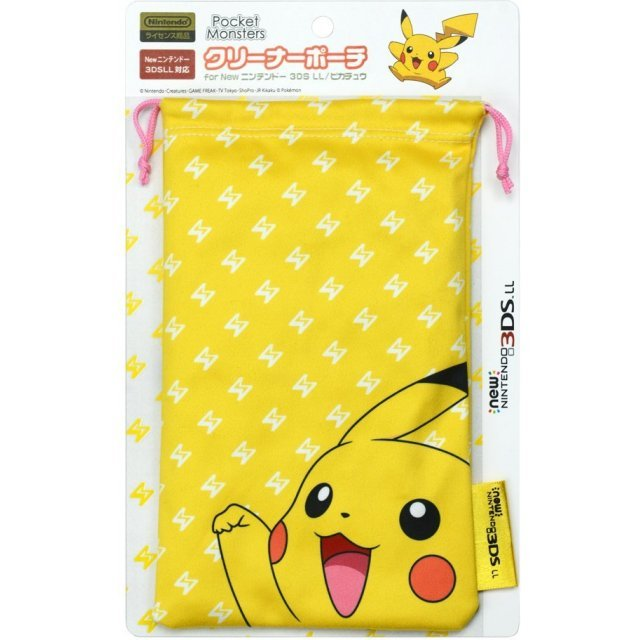 Pokemon Cleaner Pouch for New 3DS LL (Pikachu)