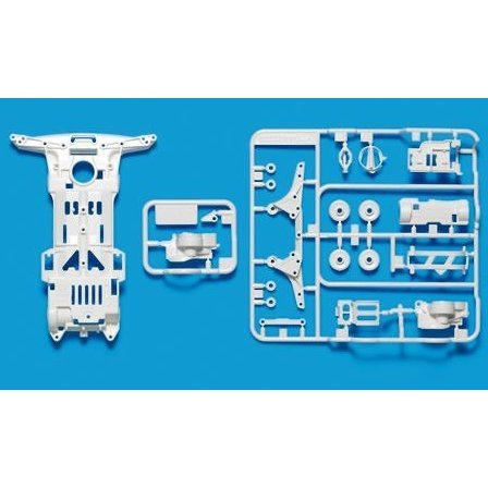 Mini 4WD Limited Edition Grade Up Parts: Super II Reinforced Chassis (White)