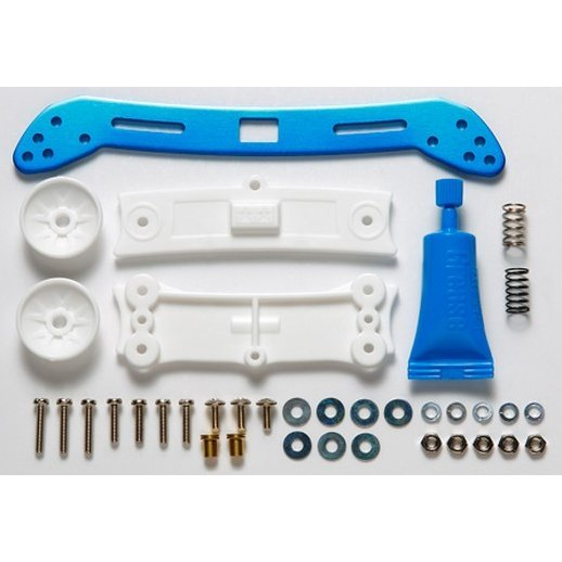 Mini 4WD Limited Edition Grade Up Parts: Front Wide Slide Damper (Blue)
