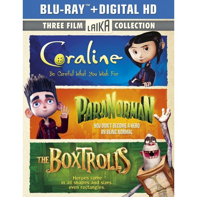 The Boxtrolls / ParaNorman / Coraline [Blu-ray+Digital Copy+UltraViolet]