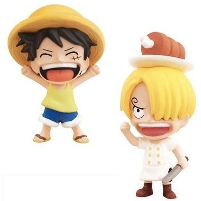 Anime Chara Heros One Piece Chapter of Early Life Trading Figure (Set of 15 pieces)
