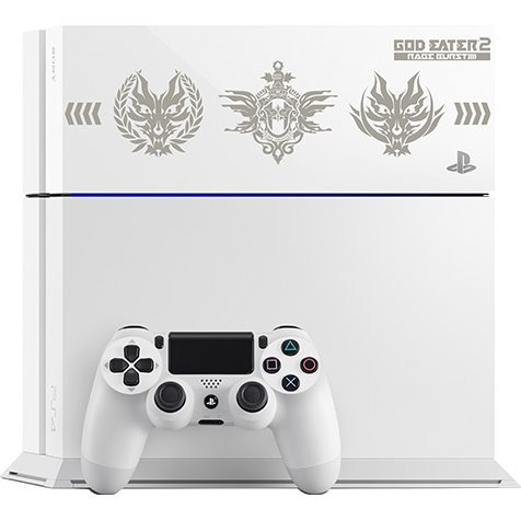 PlayStation 4 System [God Eater 2: Rage Burst Edition] (Glacier White)