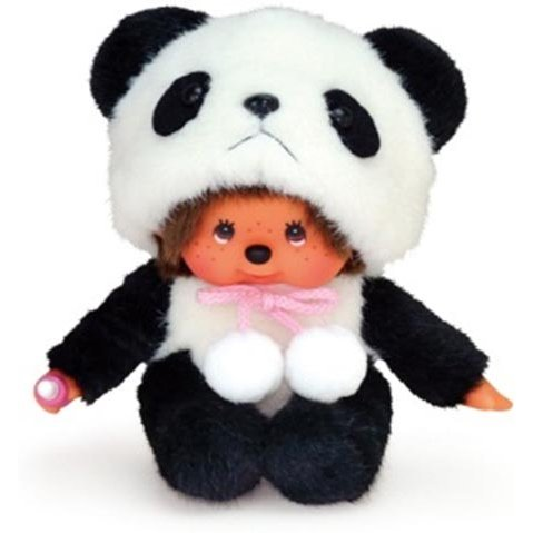 Animal Dress Monchhichi Plush: Panda