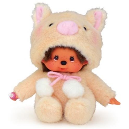 Animal Dress Monchhichi Plush: Pig